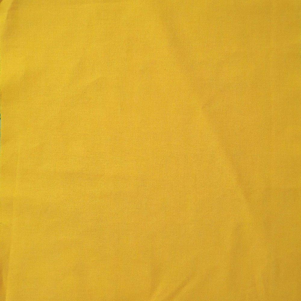 בד כותנה צהוב - רוחב 2.5 מטר