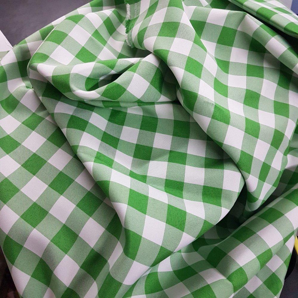 בד ברלינגטון משבצות ירוק לבן