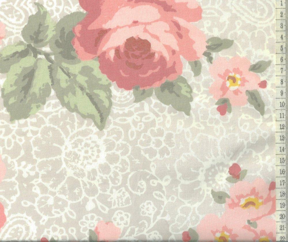בד כותנה פרחים  - רוחב  2.5 מ'