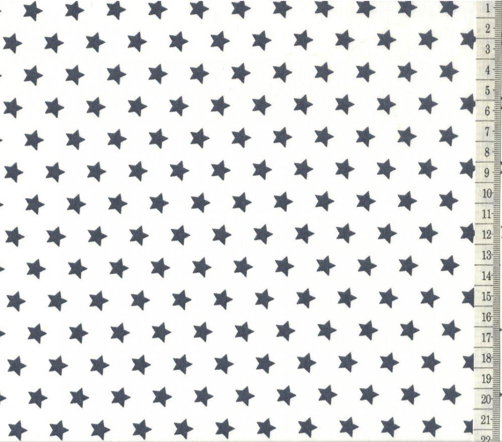 בד כותנה לבן כוכבים