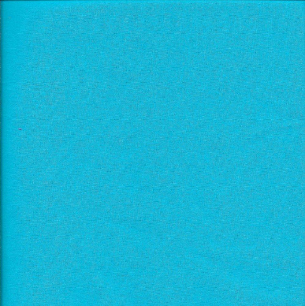 בד כותנה כחול טורקיז - רוחב 2.5 מ'