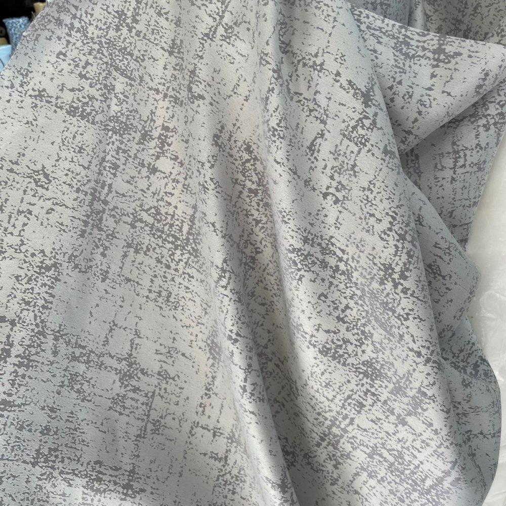 בד ג'קארד למפות אפור - רוחב 3 מ'