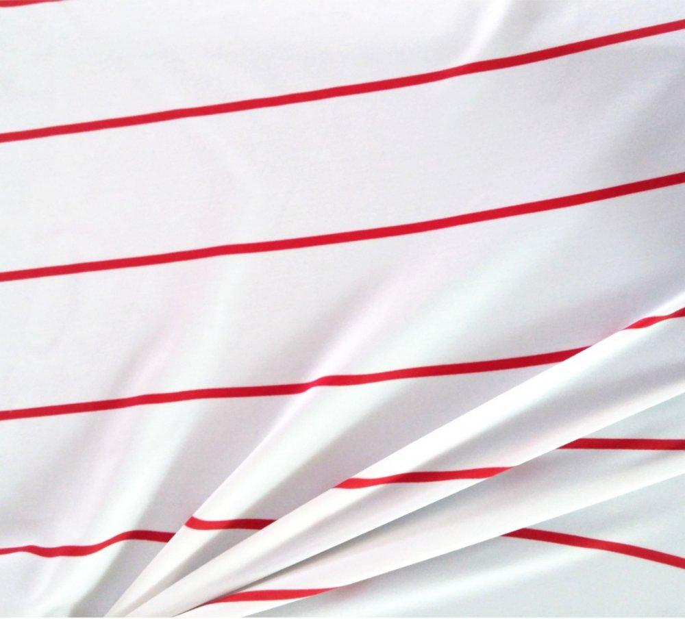 בד לייקרה בגדי ים פסים אדומים