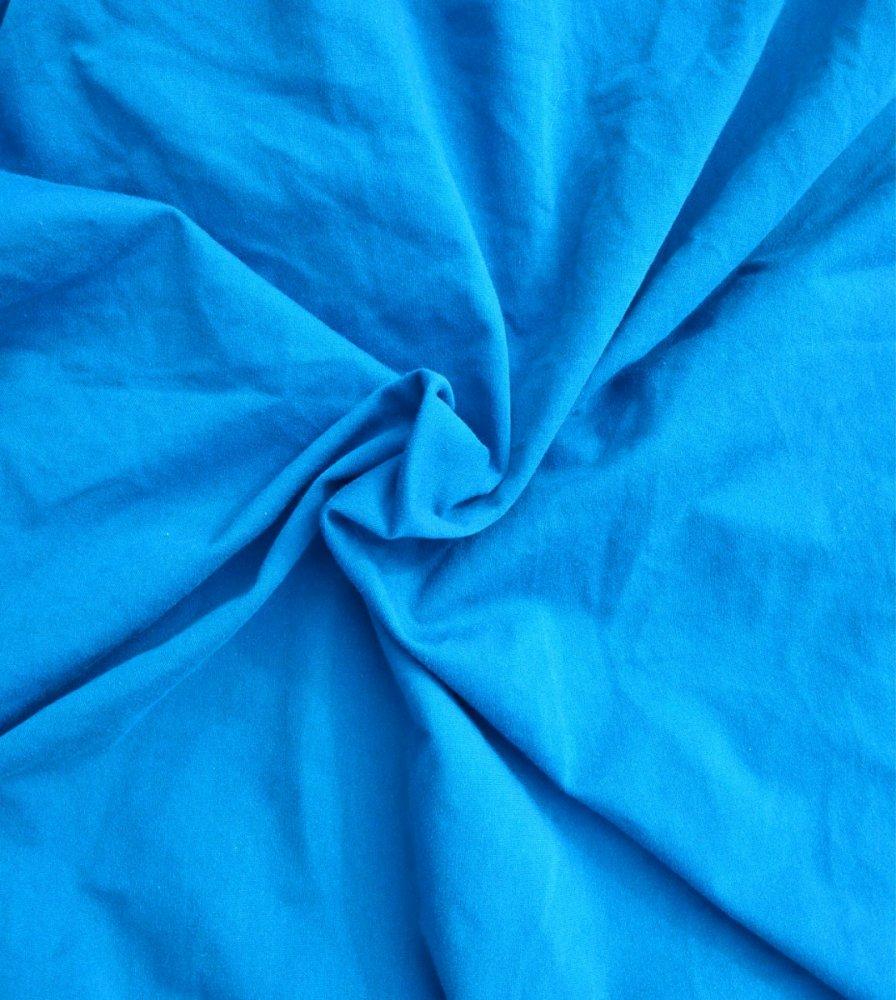 בד טריקו לייקרה כחול טורקיז