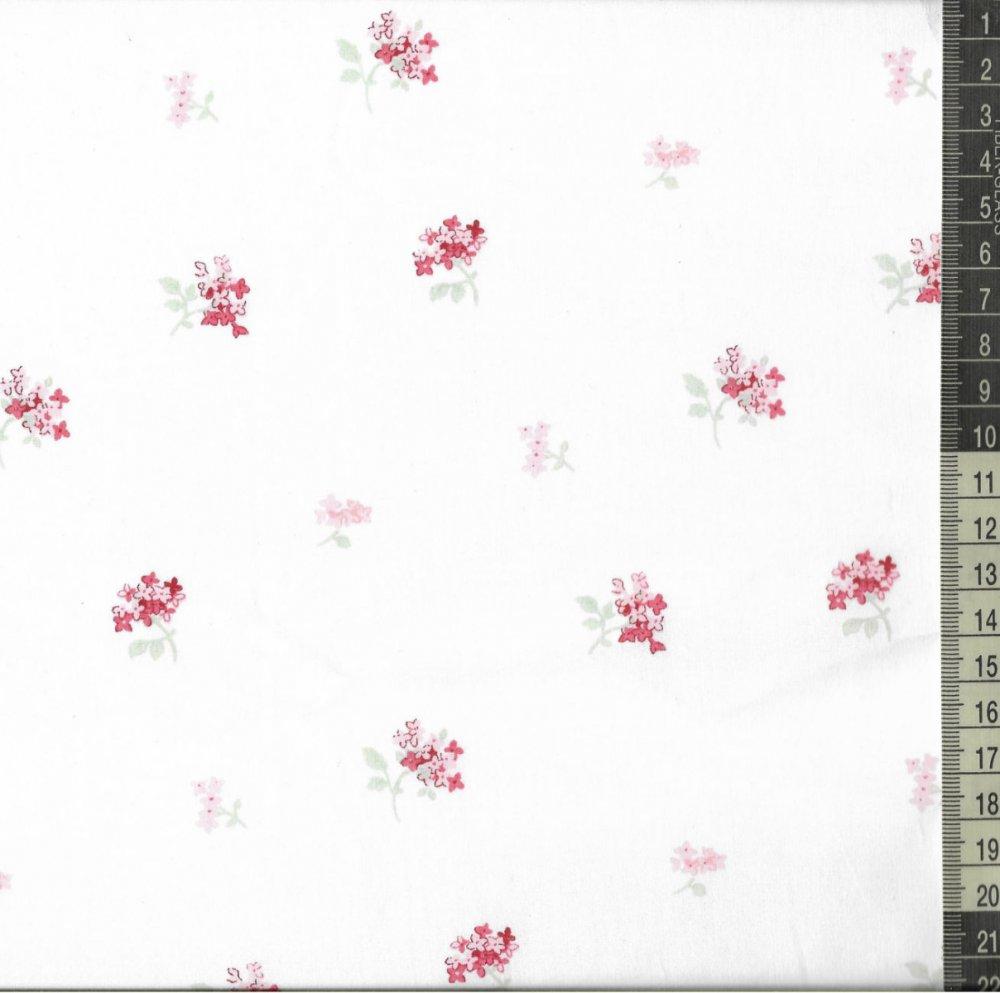 בד כותנה (פרקל) פרחים קטנים - רוחב 2.55 מ'